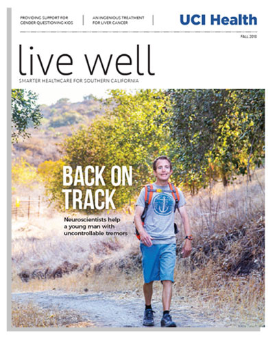 cover of live well magazine fall 2018 issue