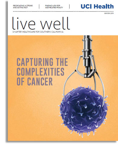 cover of live well magazine winter 2018