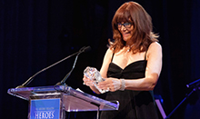 Susan Samueli receives the 2015 UC Irvine Heroes in Health award for her work supporting integrative medicine, health and wellness.